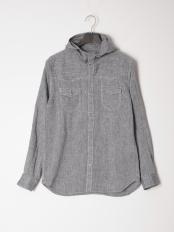 ネイビー●カジュアルシャツ(長袖)○56860