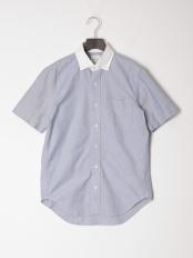 サックス●カジュアルシャツ(半袖)○56133
