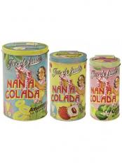 ラウンド缶3個セット:NANACOLADA○NTV310040