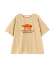 ベージュ●UVレトロモチーフプリントTシャツ フリ-ズマ-ト オリジナル○1311160045