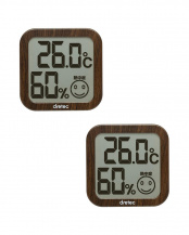 ダークウッド●デジタル温湿度計 ダークウッド2個セット○O-271DW/O-271DW