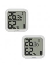 ホワイト●デジタル温湿度計 ルフト2個セット○O-402WT/O-402WT