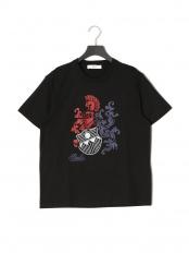ブラック●プリント 半袖Tシャツ○6227846