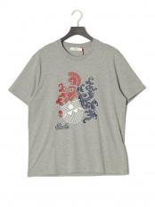 グレー●プリント 半袖Tシャツ○6227848