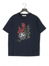ネイビー●プリント 半袖Tシャツ○6227849