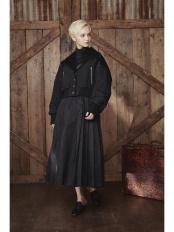BLACK●PLEATS DRESS SET BLOUSON○20FU04