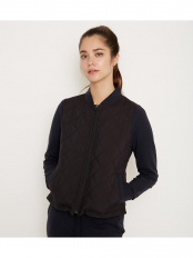 BLACK●Smooth arm quilted jacket○2279151