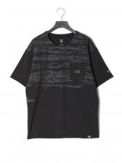 ブラック●DESCENTE DAYS グラフィック 半袖Tシャツ○DMMRJA03x2