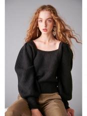 019●Rosanna Knit Pullover   -BLK-○19412022