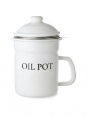 ホーローオイルポット・活性炭付「OIL POT」○LW-112