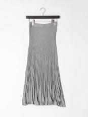 グレー●ラメニットスカート○5020360116
