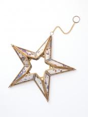 真鍮ガラス星型オーナメント○M34-1626