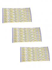 甘撚りコンパクトバスタオル 3枚セット トライアングル柄○167-009740*3