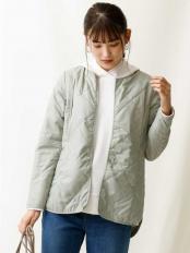 カーキ●【洗える】調温機能中綿キルトジャケット a.v.v○K2JAM04059