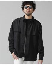 ブラック●エントリーワイドBIGポケットシャツ ナノ・ユニバースメンズ(オリジナル)○6681120016