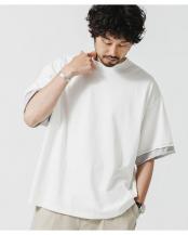 ホワイト●フェイクレイヤードTシャツ ナノ・ユニバースメンズ(オリジナル)○6681124070