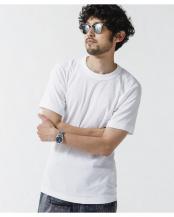 ホワイト●[久米繊維]×NUユニセックスTシャツ ナノ・ユニバースメンズ(オリジナル)○6681124093