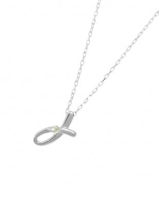 K18WG 天然ダイヤモンド1P イニシャル ネックレス・Jを見る