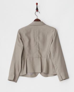 グレー ペプラム風3Bジャケットを見る
