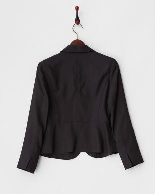 ブラック ペプラム風3Bジャケットを見る