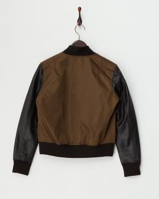 Brown Lamb Leather Sleeve Blousonを見る