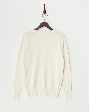 O/White Cotton Cashmere Vneck Knitを見る