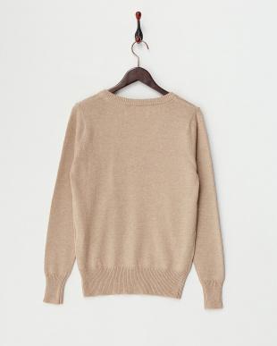 Beige Cotton Cashmere Vneck Knitを見る