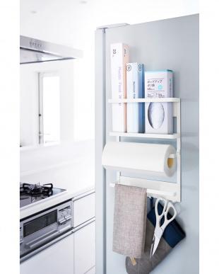 WH ホワイト マグネット冷蔵庫サイドラック プレートを見る
