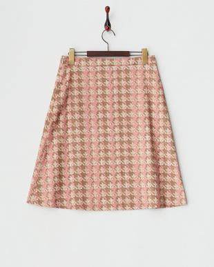 PNK トラペーズラインミディスカートを見る