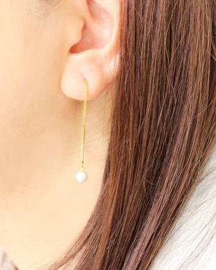 ゴールドカラー あこや本真珠 ベビーパール 5.5~6mm 一粒ヨーロピアンピアスを見る