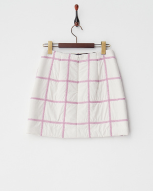 WH ホワイト 中綿グリッドスカートを見る