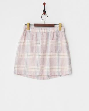 ライトピンク BAIRD MCNUTT リネンチェックミニスカートを見る