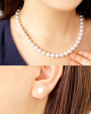 花珠あこや本真珠 8~8.5mm 連ネックレス&ピアス 2点セットを見る