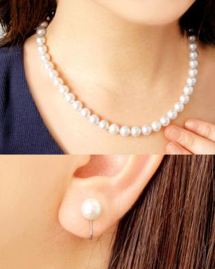 花珠あこや本真珠 8~8.5mm 連ネックレス&イヤリング 2点セットを見る