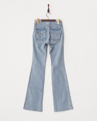 ライトブルー バックフラップポケットジーンズ WOMENを見る