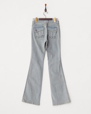 ユーズドブルー バックフラップポケットジーンズ WOMENを見る