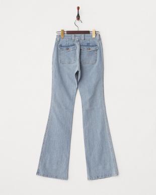 ライトブルー ミニポケット付きジーンズ WOMENを見る