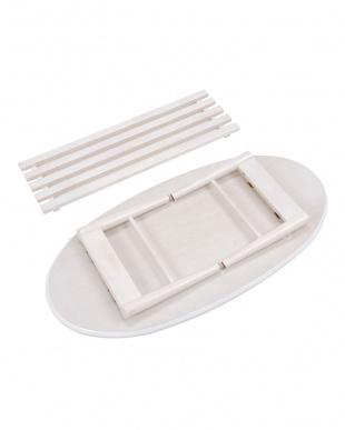 ホワイト オーバル 折れ脚テーブル 100×50×33.5cmを見る