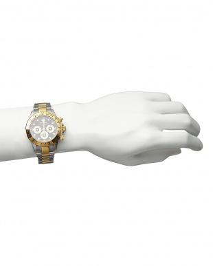 ゴールド ダイヤ付き機械式腕時計 014|MENを見る