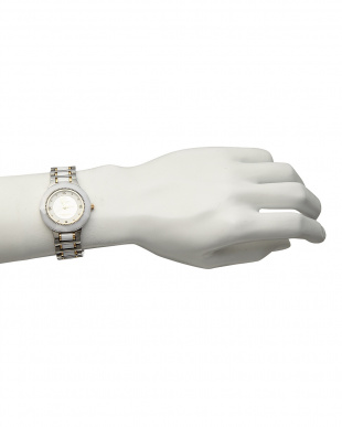 ホワイト サファイヤ付き 電池式腕時計 001|MENを見る