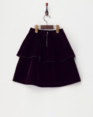 パープル ベロア2段スカートを見る