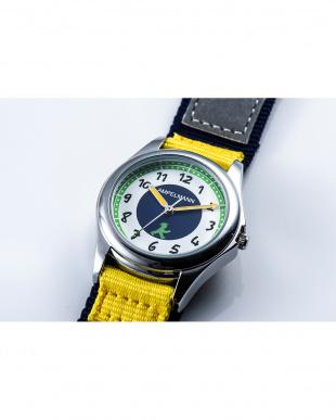 ネイビー×イエロー AMA 3針モデル腕時計|KIDSを見る