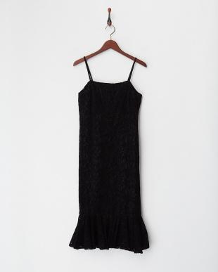 ブラック フロッキーキャミドレスを見る
