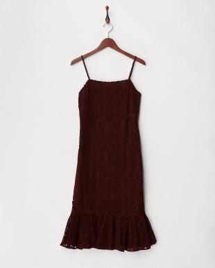 ボルドー フロッキーキャミドレスを見る