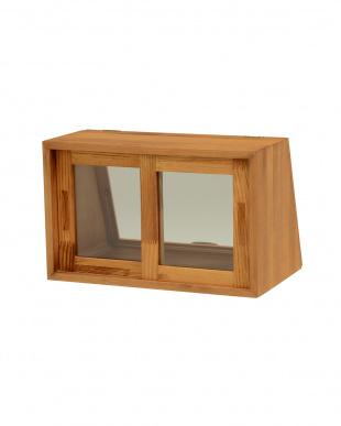 ナチュラル カウンター上ガラスケース 40×25×25cmを見る