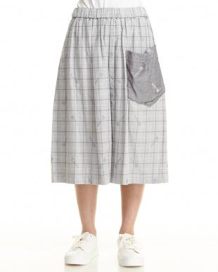 グレー フォークス スカートを見る