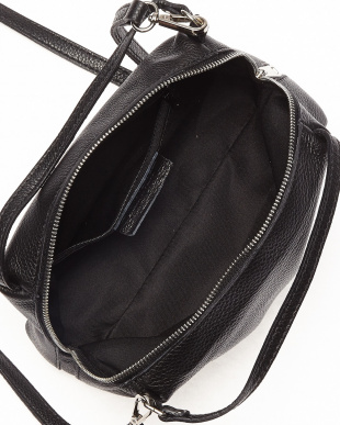 ブラック イタリアンカーフ シンプルミニバッグを見る
