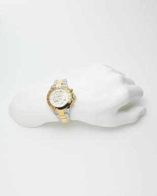 ゴールド/ホワイト 機械式腕時計 003|MENを見る