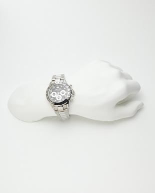 シルバー ダイヤ付き機械式腕時計 014|MENを見る