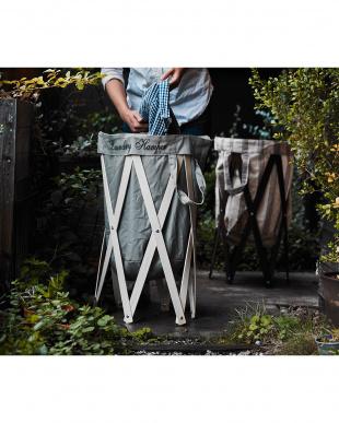 グレー×ナチュラル ナチュラルな洗濯かご Laundry Hamper(ランドリーハンパー)を見る